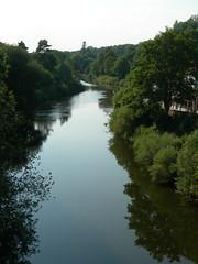 At Ironbridge (Jacqi B (catching up)) Tags: uk england canal shropshire ironbridge waterway blistshillvictoriantown jacqistravels travelswiththetrumans uk2014 bigtrip2014 iron6454