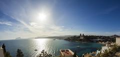 Moraira (alejandrocabellogomez) Tags: sol beach mar spain mediterranean mediterraneo playa alicante moraira