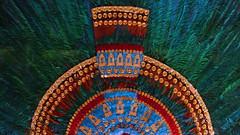 Feathered headdress,  Aztec (reproduction)