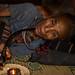 Femme Akha qui fume de l'opium. Phongsaly. Laos