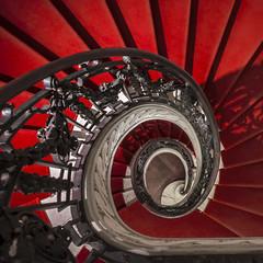 Belvue Spiral (Blende1.8) Tags: red brussels rot aka spiral nikon stair laranja steps stairway treppe staircase nikkor rd brssel rood rosso spirale  stufen  gedreht rd treppenhaus gelnder   roig   czerwony d610 erven 1635mm krmz rooi handlauf czerwie  carmn   bermeyu gewunden             treppenauge musebelvue trennenschnecke