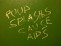 """""""POOP SPLASHS CAUSE AIDS"""" (SchuminWeb) Tags: mountain green mill coffee wall drywall bathroom graffiti virginia carved paint downtown rooms aids message ben tea room web september roanoke va poop vandalism restroom rest scratched messages restrooms scratchitti cause 2014 splashes nonsensical millmountaincoffeeandtea splashs millmountaincoffeetea schumin schuminweb"""