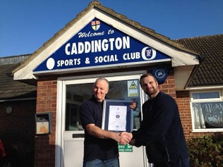 Dale Receives Our Clubmark Certificate