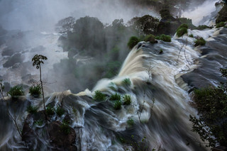 Iguazu falls in the mist