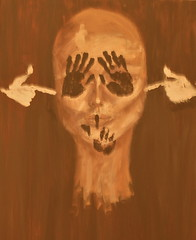 (T.Khair) Tags: gun shoot silent blind politics deaf hush