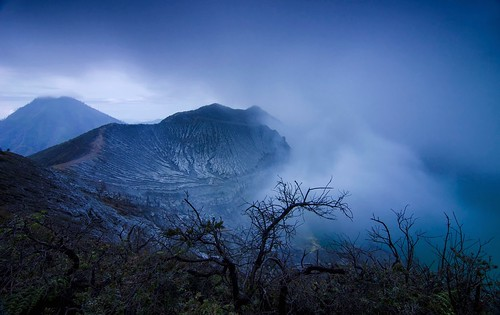 Misty Morning at Ijen Crater