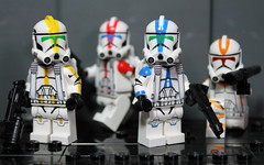 The Jet Troopers Have Arrived! (CloneArmyCustoms) Tags: 2 trooper k army star fly lego jet mini company pack ii armor captain figure 501st wars cloth cac clone airborne figures straps commander commando customs jetpack bly minifigure battlefront appo deviss 327th 212th clonearmycustoms