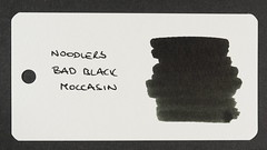 Noodler's Bad Black Moccasin - Word Card
