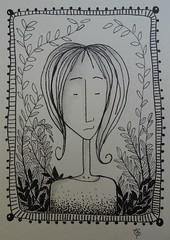 garden girl 1 (catherine329) Tags: girl garden doodle zia penandink zendoodle
