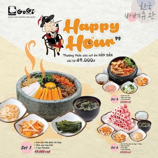 GoGi House - set ăn trưa Hàn Quốc 49.000 VNĐ!