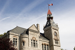 Town Hall (Brad_McKay) Tags: old blue sky ontario canada tower st stone clouds town hall spring marys 500px ifttt