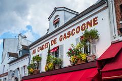Au Cadet de Gascogne (Serendigity) Tags: city flowers windows plants paris france montmartre pots shutters