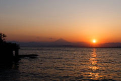 Mt.Fuji with sun set ((Sho Takimoto)) Tags: trip sunset japan 35mm canon fuji snap  enoshima     6d