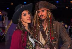 Basel Fantasy 2016 Cosplay, Tania Sofia De Andrade und Captain Black Sparrow