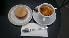 Caramel almondjaw, long black coffee AUD4 each - Market Lane Coffee, Collins Street, Melbourne (avlxyz) Tags: coffee cookie drink almond biscuit caramel crema caffe blackcoffee caffelungo longblackcoffee almondjaw