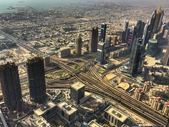 That view from top of the Burj Khalifa. (sajathahamed) Tags: uae emirates dxb atthetop dubaimall burjkhalifa mydubai