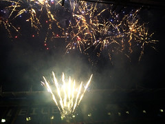 Leicester City celebration fireworks (unclechristo) Tags: chrisconway leicestercity kingpowerstadium marcusjoseph
