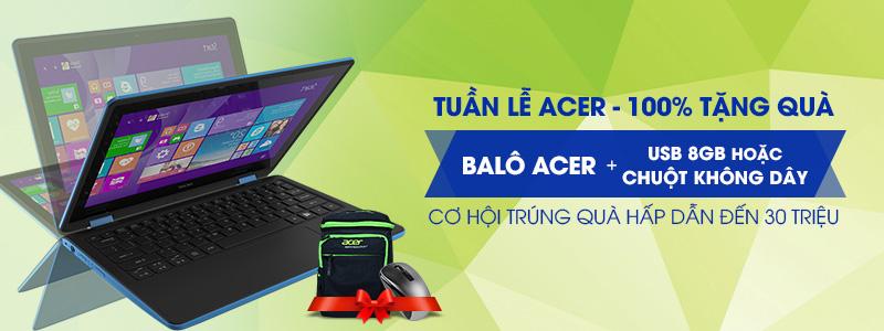 Mua Laptop Acer ngập tràn quà tặng (23/05 - 30/05/2016)