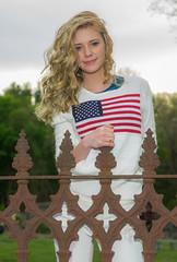 Jillian 4 (jlucierphoto) Tags: portrait people hot sexy girl outdoor patriotic blonde lovelyflickr