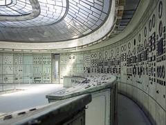 Control room (soho42) Tags: abandoned artdeco powerplant controlroom mamiya645protl kodakportapro400