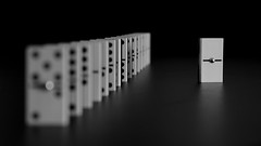 think different (Jordi sureda) Tags: blackandwhite black game blancoynegro monochrome photography one nikon different creative minimal domino minimalism simple minimalismo