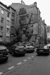 ... (GRZE5) Tags: street old building cars mural warsaw