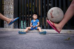 Little boy football fans - 02 (-clicking-) Tags: life childhood children foot football streetphotography streetportrait streetlife vietnam dailylife childish childlike vietnamesechildren
