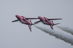 Red Arrrows upside down (Latitude53 Photography) Tags: red its flying force flat display hawk flag aircraft smoke air royal best airshow gb arrows reds raf aerobatics the cosford