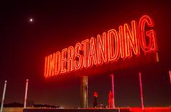 ART SIGN (ekonon) Tags: nyc brooklyn night neon modernart understanding martincreed publicartfund workno2630