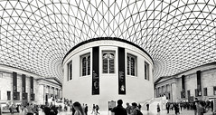 British Museum (ClickSnapShot) Tags: street england london monochrome museum architecture display tourist tourists symmetry exhibitions bloomsbury historical symmetrical geometrical britishmuseum pillars bloomsburystreet ilobsterit
