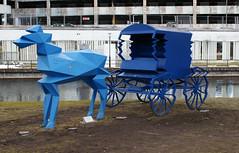 blue horse (helena.e) Tags: art strange statue blu bl hst staty bors konstverk helenae