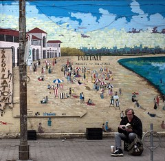Parkdale (RichardKz) Tags: parkdale ricohgrii toronto denizens people streetart mural