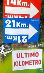 Triuggio  26/06/16-Km 14 (Londrina92) Tags: summer last estate signage lombardia ultimo km segnale lombardy indicazione camminata triuggio tapasciata