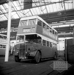 Stockport Corporation 'utility' bus (Museum of Transport Greater Manchester archive) Tags: bus guy buses museum manchester war garage transport utility corporation arab stockport depot wartime 223 cheetham museumoftransport cheethamhill boylestreet gmts greatermanchestertransportsociety gmtscollection m88uw wwwgmtscouk ja7623