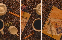 Coffee Culture (Alireza Borhani) Tags: flower coffee composition writing vintage fineart culture sugar coffeebeans