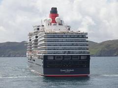 Cunard Queen Elizabeth liner off Stornoway - taken from Caledonian MacBrayne MV Loch Seaforth (iainh124a) Tags: uk scotland sony cybershot cunard sonycybershot oceanliner cruiseliner arnish stornowayharbour iainh124a dx90 dschx90 dschs90v dx90v