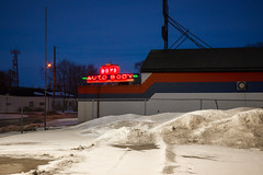 Boyd Autobody (bryanscott) Tags: winter snow canada building architecture winnipeg manitoba signage