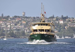 Manly Ferry Collaroy makes her way up harbour (john cowper) Tags: manly sydney newsouthwales sydneyharbour manlyferry olympicgames collaroy olympictorch sydneyferries collaroybeach harbourcityferries