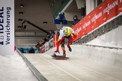 Sprint for gold! (Groman123) Tags: schnee winter snow cold sport canon germany skeleton deutschland eos championship weltmeisterschaft cc creativecommons nrw kalt wintersport nordrheinwestfalen sauerland winterberg northrhinewestphalia ccbysa 700d