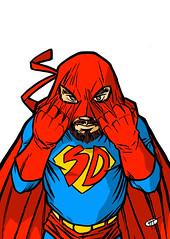 super di maschera mini (ilsuperdisoccupato) Tags: italia fumetti bruno satira socialismo larepubblica crisi disoccupazione precariato superdisoccupato