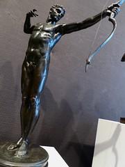 Sir William Hamo Thornycroft, (1850-1925, Teucer, 1889 (jacquemart) Tags: bronze naked nude muscular william hero sir 1889 athelete newbondstreet hamo teucer sirwilliamhamothornycroft londonfinearts londonmarch2015 thornycroft18501925teucer1889