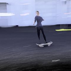 sk8er2 (wizmo) Tags: motion slowshutter skateboarder sk8er lighttrailsiphone