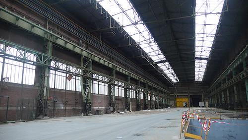 Les halles, aujourd'hui abandonnées, présentent une grande qualité architecturale © Plaine Commune