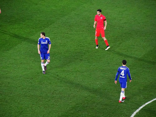 Nemanja Matic, Javier Pastore and Cesc Fabregas