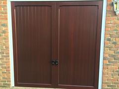 Cardale timber door in mahogany finish. February 2015
