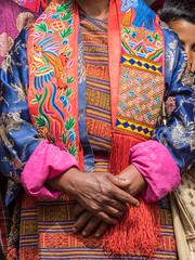 women's clothing (alison ryde - back in town for now) Tags: travel people holiday festival march clothing asia bhutan buddhist buddhism east kira punaka february himalaya traditionalcostume tego phototrip 2015 rachus wonju tribalcostume kingdomofbhutan himalayankingdoms bhutanesepeople alisonryde olympusem1