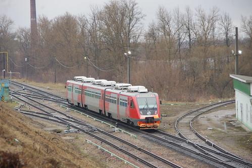RZD RA2-108 DMU at Roslavl ©  trolleway