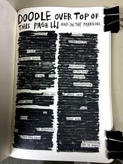 life on paper (byzantiumbooks) Tags: doodle blackout werehere wreckthisjournal hereios