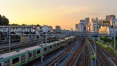 Entre Chien Et Loup 058 (Harimau Kayu (AKA Sumatra-Tiger)) Tags: sunset japan tokyo cityscape dusk jr urbanskyline settingsun urbanphotography urbanscenery urbanasia uguisudanistation entrechienetloup