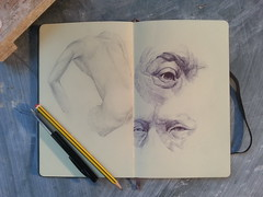 (Nick Who?) Tags: portrait sculpture eye moleskine lines paper drawing contemporary sketchbook study doodle sketches bic lifedrawing juxtapoz bicpen todaysart portraitart ffffound